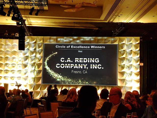c.a. reding company circle of excellence winners ricoh 2016