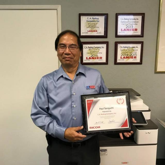 ricoh service excellence award winners 2018