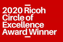 Ricoh Circle of Excellence certification by C.A. Reding Company